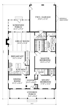 Farmhouse Traditional Level One of Plan 86299