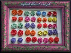 Molded flowers Molds available at https://www.facebook.com/StylishFloralArt
