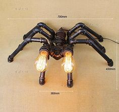 Creative living room pipes and retro industrialstyle spider table lamp *** Be sure to check out this awesome product.