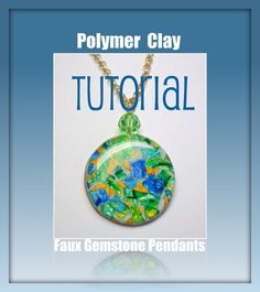 Tutorial  How to Create Polymer Clay Faux Gemstone Pendants & Earrings by BeadazzleMe make your own jewelry