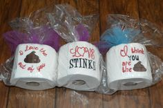 Valentines Day Embroidered Toilet Paper :: Rumpshakers In-stock Store