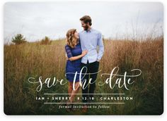 """""""Statement"""" - Full-Bleed Photo Save The Date Magnets in Frosting by Lauren Chism."""