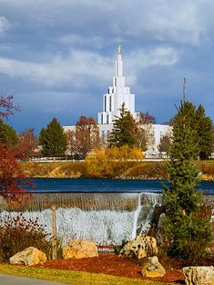 The Church of Jesus Christ of Latter-day Saints Idaho Falls Temple.