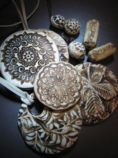 faux bone with polymer clay?