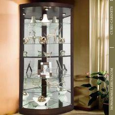 Glass Corner Cabinet Black | http://betdaffaires.com | Pinterest ...