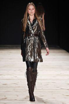 Sao Paulo Fashion Week - Winter 2015 collections. Love this metallic look!