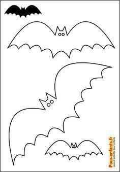 * Silhouette chauve-souris Halloween. Pour les bricolages et activités manuelles des enfants.