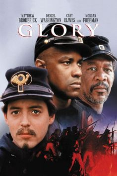 Directed by Edward Zwick. With Matthew Broderick, Denzel Washington, Cary Elwes, Morgan Freeman. Robert Gould Shaw leads the US Civil War's first all-black volunteer company, fighting prejudices of both his own Union army and the Confederates. Cinema Tv, Films Cinema, Old Movies, Great Movies, See Movie, Movie Tv, Movies Showing, Movies And Tv Shows, Civil War Movies