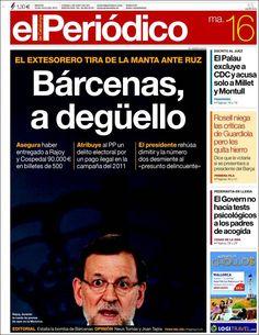 Los Titulares y Portadas de Noticias Destacadas Españolas del 16 de Julio de 2013 del Diario El Periódico ¿Que le pareció esta Portada de este Diario Español?