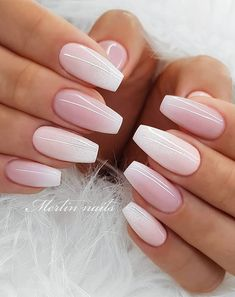 Latest Nail Trends for Winter 2020 – Nail Art Design Ideas for 2020 Wedding Acrylic Nails, Acrylic Nails Coffin Short, Best Acrylic Nails, Gel Nail Art, Acrylic Nails Almond Glitter, Pink Wedding Nails, Art Nails, Coffin Nails, Ombre Nail Designs