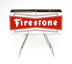 1950's Porcelain Firestone Display Sign's.