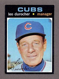 Cubs Cards, Leo Durocher, Chicago Cubs, Cardinals, Baseball Cards, Sports, Hs Sports, Sport