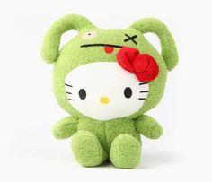 "Ugly Doll x Hello Kitty 7"" Plush: OX"