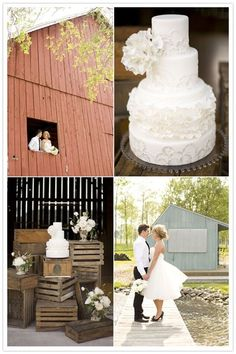 Love this for a barn wedding instead of a traditional cake table