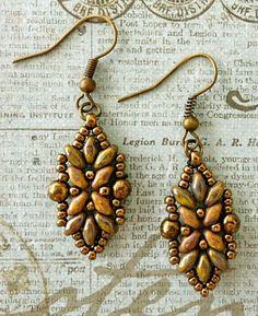"Linda's Crafty Inspirations: Loretta ""Deco"" Earrings Update"