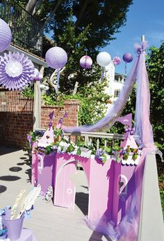 outdoor princess party castle