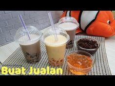 How to Make Jelly Milk Ice Fun for Children Milk Jelly, Ice Milk, Bubble Drink, Bubble Tea, Siopao, How To Make Jelly, Healthy Drinks, Smoothies, Beverages