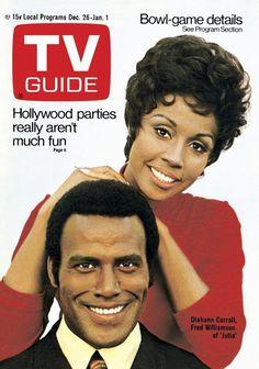 TV Guide, Dec. 26-Jan. 1, 1971 : Diahann Carroll and Fred Williamson (Julia)
