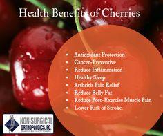 Health benefits of cherries. Who knew!