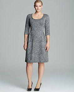 Melissa Masse Plus Shimmer Ponte Dress | Bloomingdale's
