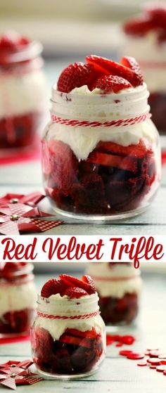 This Red Velvet Trifle is a super easy dessert recipe perfect for dinner parties, picnics and just because. A great way to celebrate Canada Day Too! Super Easy Dessert Recipe, Healthy Dessert Recipes, Delicious Desserts, Yummy Food, Desserts For A Crowd, Köstliche Desserts, Homemade Desserts, Icebox Desserts, Red Velvet Cake Rezept