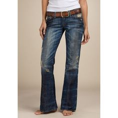 Legend Women's Flare Jeans - Legend Bottoms - Lucky Brand Jeans - Polyvore