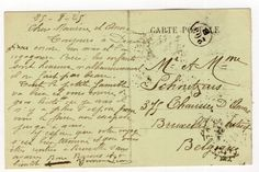Deauville postcard to Belgium with four French stamps and two unclear cancellations