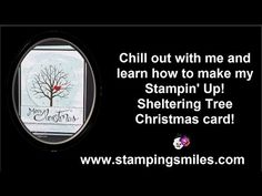 Feel the chill in the air?  It's from my Christmas in July! Come chill out with me as I show you how to make my fabulous Christmas card with the Stampin' Up! Sheltering Tree Stamp Set!  Would you love to get an exclusive video of mine every week too? Skip on over to learn more about the Stamping Playground! http://www.stampingplayground.com  #stampinupshelteringtree #handmadechristmascards #stampinupchristmascards