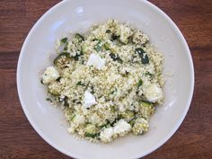 Couscous with Zucchini and Feta: add yellow squash