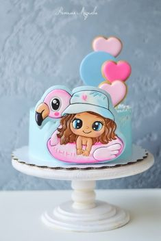 Birthday Cakes Girls Kids, Doll Birthday Cake, Mermaid Birthday Cakes, Cake Icing, Buttercream Cake, Torta Paw Patrol, Cookies For Kids, Girl Cakes, Cute Cakes