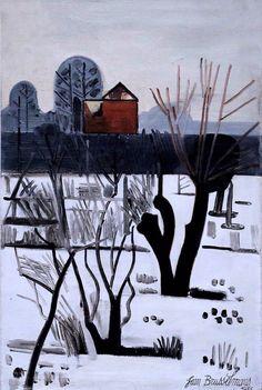 Jean Brusselmans . 1884-1953. Paysage gris d'hiver. Gray winter landscape. 1935. Bruges. Groeninge Museum