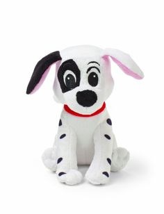 Make a friend for playtime! With a patch over his eye and a jingle in his tummy, this cute mini jingler plush toy of Patch from 101 Dalmatians is the just the right size for small hands to hold and play.