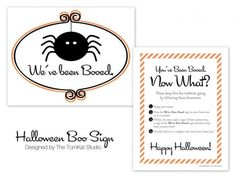 Free Printable BOO Sign on the TomKat Studio Blog