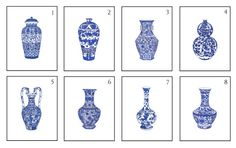 Pick Two Blue and White Chinese Porcelain Giclee by thepinkpagoda