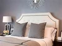 padded headboard and Grey Wall Color