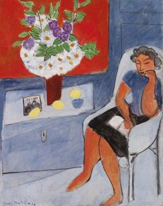 Figure with Bouquet, 1939 - Henri Matisse - WikiArt.org