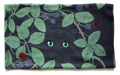 Cat in the Brambles Wool and Silk Blend Scarf.