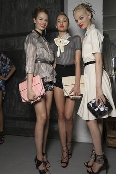 Fashion week with Daphne Retro Fashion, High Fashion, Fashion Show, Models Backstage, Runway Fashion, Womens Fashion, Paris Fashion, Jason Wu, Up Girl