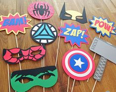 Apoyos de la foto: Marvel Vengadores Super Hero Set por BabyBinkz