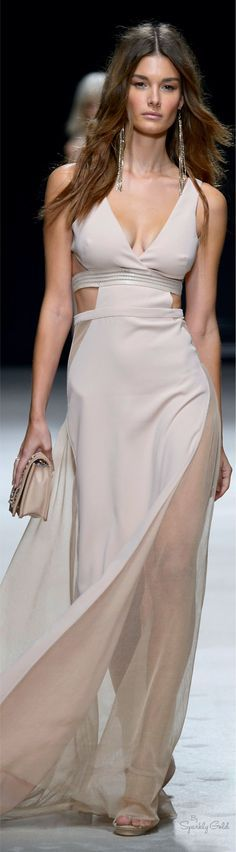 nude maxi dress @roressclothes closet ideas women fashion outfit clothing style apparel