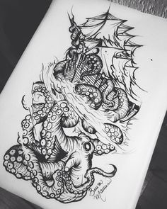 Image result for the sea witch attacking a ship | Mandala