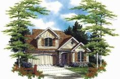Traditional Style House Plan - 5 Beds 2.5 Baths 2320 Sq/Ft Plan #48-175 Exterior - Front Elevation - Houseplans.com