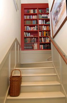 Staircase Photos Recessed Shelves Design, Pictures, Remodel, Decor and Ideas - page 7 Staircase Landing, Staircase Design, Stair Design, Staircase Ideas, Railing Design, Modern Staircase, Traditional Staircase, Traditional Interior, Landing Decor