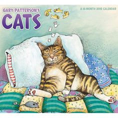 Gary Patterson's Cats 2015 Wall Calendar | CALENDARS.COM - $14.99 | Cat lovers have enjoyed Gary Patterson's humorous moments with cats for over 30 years. His images have captured the hearts of fans, young and old. Gary Patterson remains one of America's most popular illustrators. Gary Patterson's Cats 2015 Wall Calendar includes September-December 2014 overview.