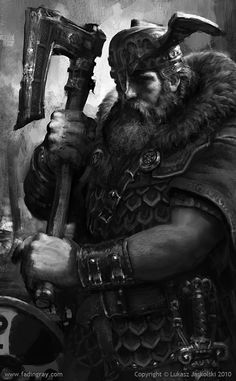 Norse Warrior #concept #art #character #creative #conceptart #reference #inspiration #draw #sketch #2d #best #great #speedpainting #digital #painting #speedpaint #paint
