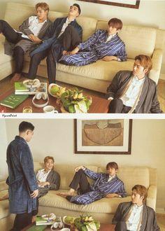 EXO Baekhyun Suho Kyungsoo Chen Photobook in Hawaii 'Present; Baekhyun Chanyeol, Baekhyun Fanart, Park Chanyeol, Shinee, Ulzzang, Exo Album, Fandom, Exo Korean, Exo Memes