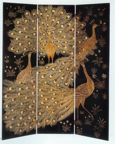 Three Panel folding screen