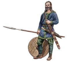 An Ancient Alemanni Warrior by Frithjof Spangenberg