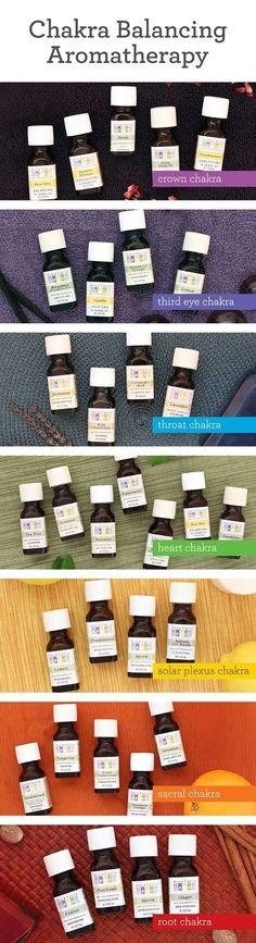 Essential oils for chakras #aromatherapyforthesoul