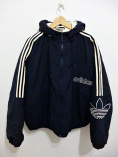 Vintage 80s ADIDAS Hip Hop Run Dmc Style hoodies oversized puffer track bomber…